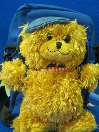 Jofli Bear is looking forward to his adventures.