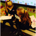 Testing each other on our spellings