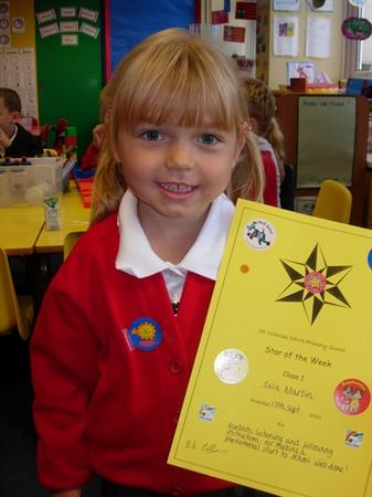 Star of the week - 17th Sept. Well done