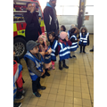 looking at the big fire engine truck