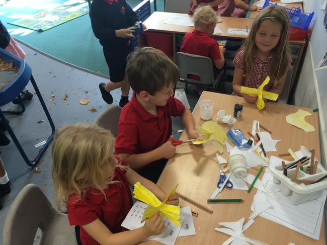 Making yellow canaries like the ones in the story!