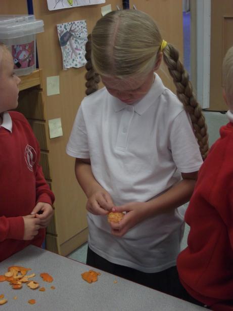 We had to peel the fruit.