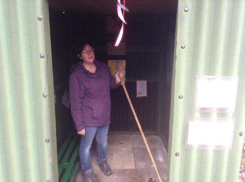 Cleaning the Anderson Shelter