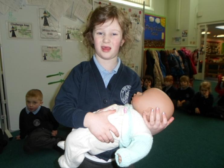 Baby Annabel came into school