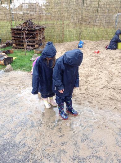 Wet sloppy sinking sand!
