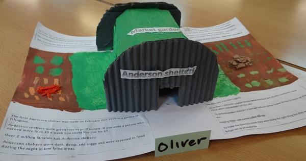 Handmade Air Raid Shelter
