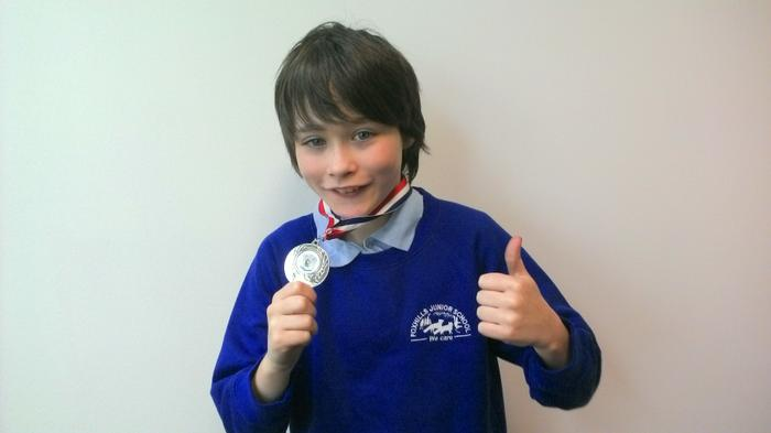 Callum - 2nd in archery (youngest competitor!)