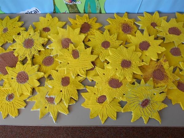 Year 2 Clay Sunflowers