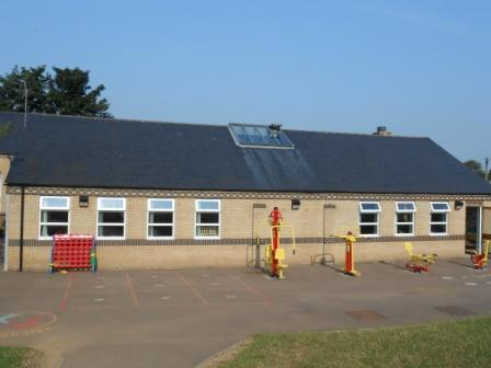 Outside our Key Stage 2 Classrooms