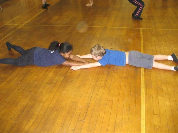 PE dance lesson