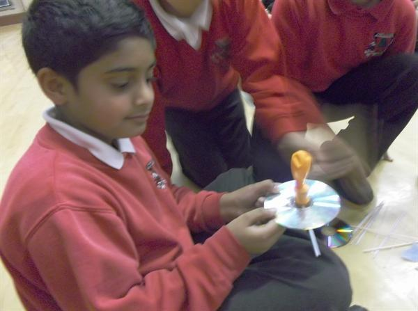 Year 6 make hovercrafts in science
