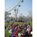 Lunchtime on the Southbank - under the London Eye