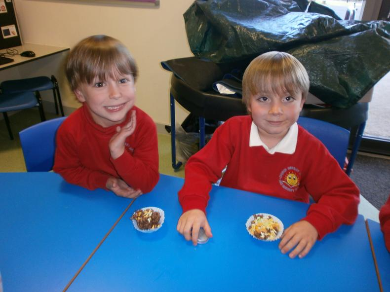 We were pleased with our cakes.