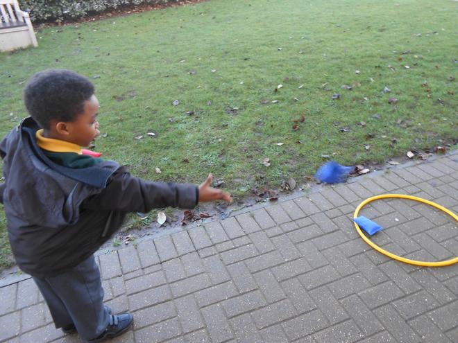 Doing our maths learning outside