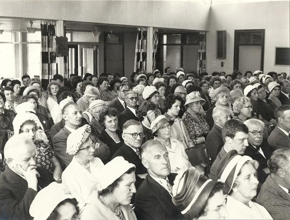 Audience at school's official opening 24 July 1963