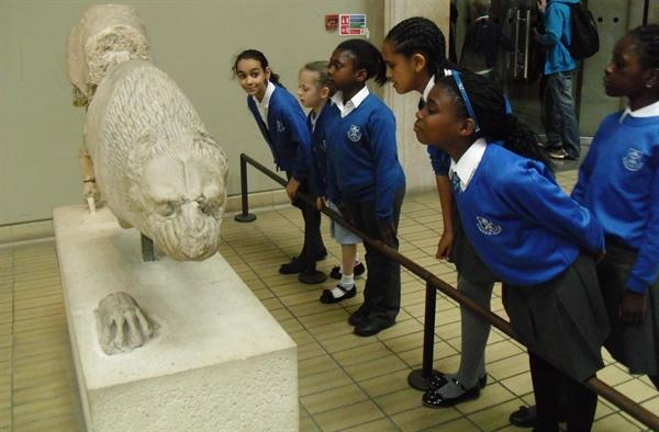 Our class trip to the British Museum.