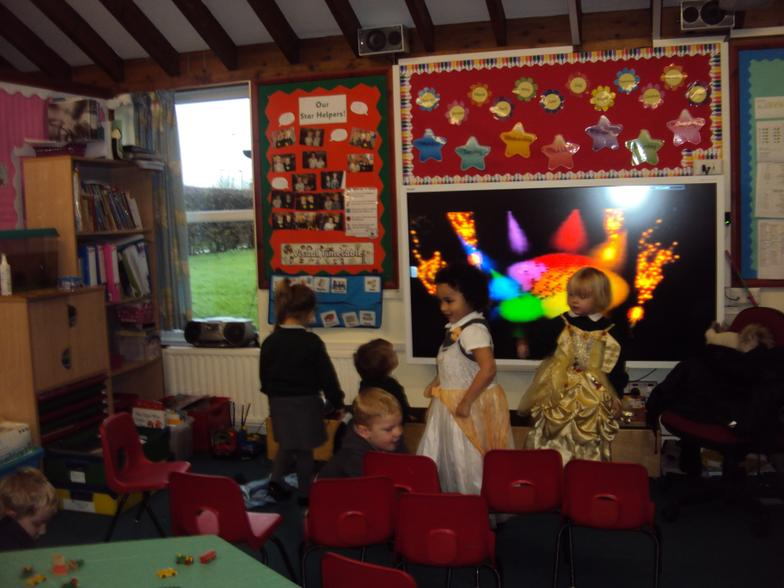 We had a disco in Nursery.