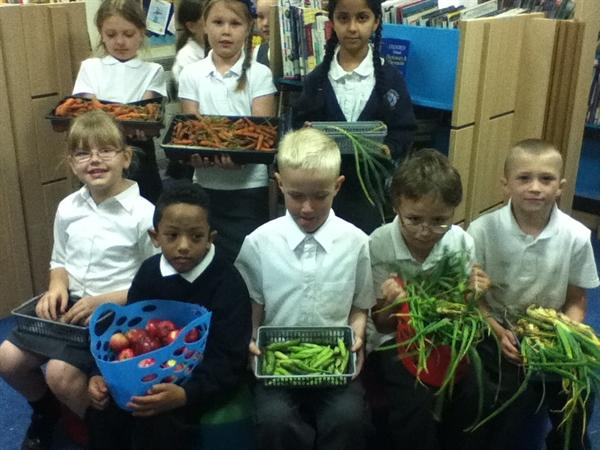 A WIDE RANGE OF VEGETABLES!