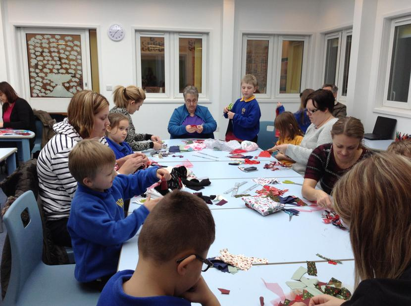 Take a look at the Christmas wreaths we made on Tuesday afternoon, we had a great time.