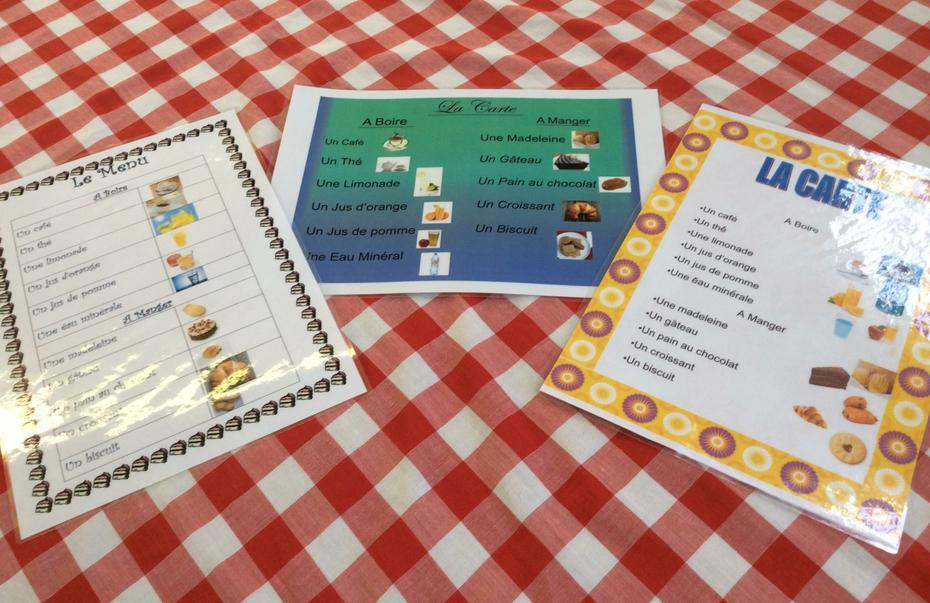 Our home learning task was to design a menu