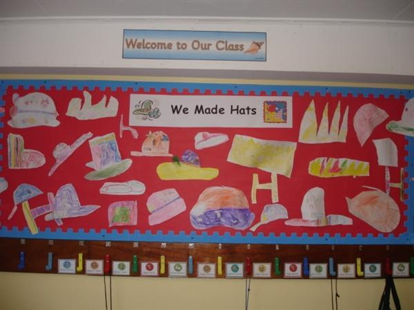 Y2 Mrs Willis and Mrs McBride Cloak room display.