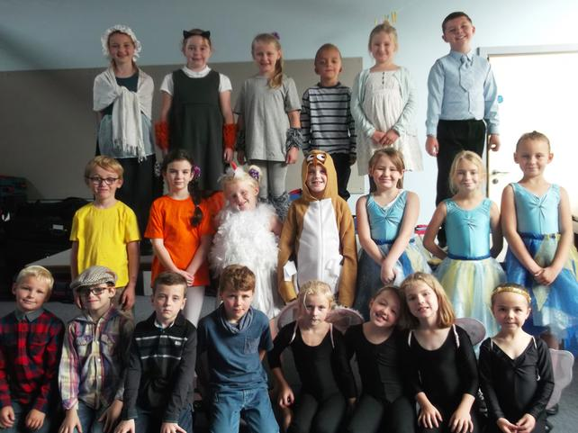 Today we tried our costumes on for our play...