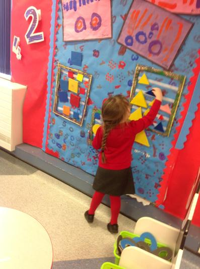 We can sort our shapes in our interactive display.