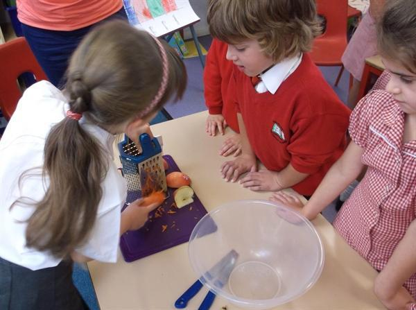 Learning how to use tools safely - grating