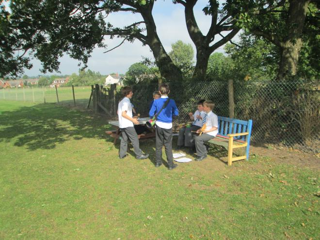 We composed and performed music outside.