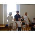 Danny Lawrence with the children