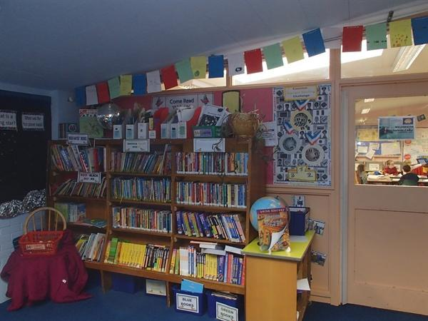 Our well stocked book shelves
