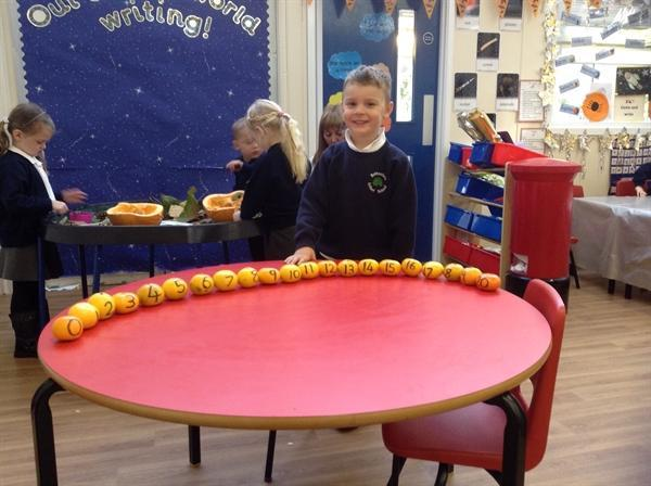 Ordering numbers and exploring pumpkins!
