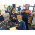 Creating dinosaurs with printed patterns