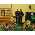 Firefighters from Hitchin Fire Station visited us.