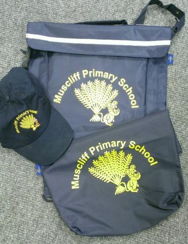 Book bags £5.00, PE bags £5.00 School Cap £5.00