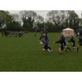 D. Harnett about to score a try!