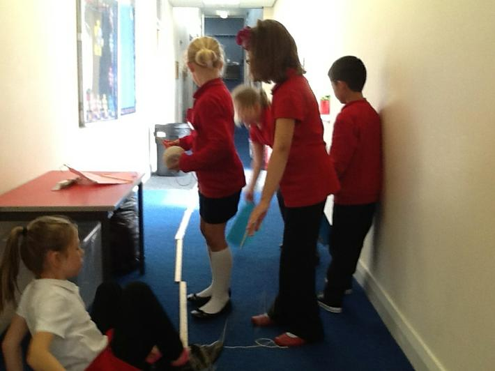 Measuring 5 metre lengths was tricky at first.