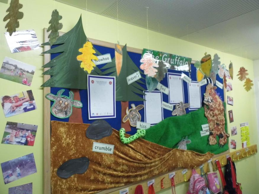 Our Gruffalo visit display