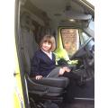 Driving the ambulance