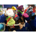 Making sock puppets in Golden Time