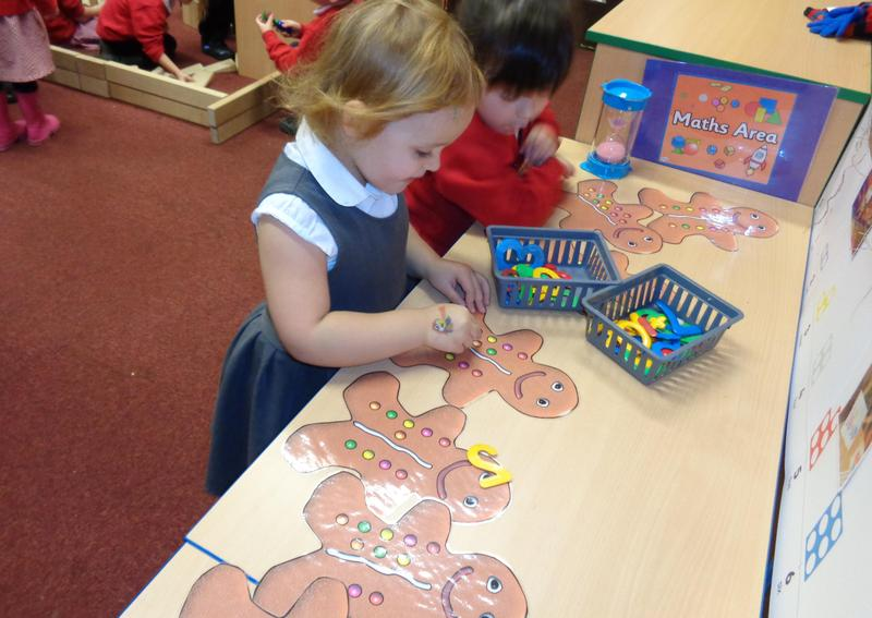 Gingerbread men counting and addition