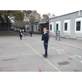 Measuring stopping distances. 'Organised chaos!'