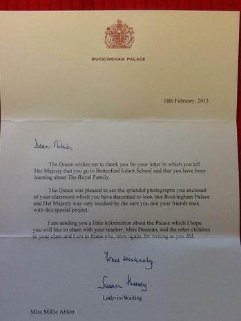 Our letter from the Royal family!