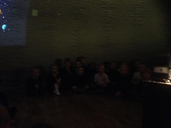 Inside the planetarium!