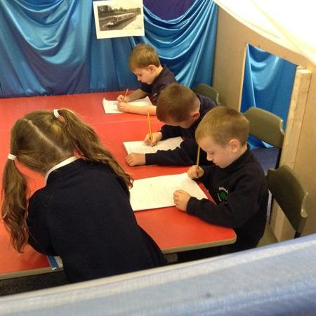 Busy busy! We love writing in our boat!