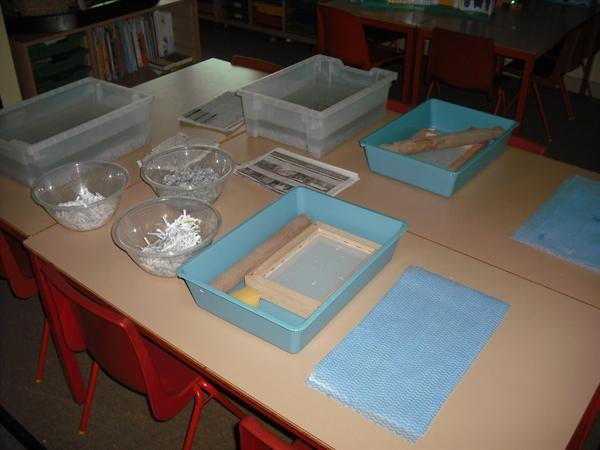 27th Jan '11 - today we made recycled paper!