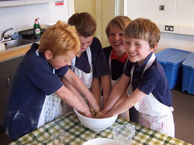 Making rock cakes for Maths!
