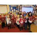 Christmas Jumper Day in Y5 with Miss F and Mrs D