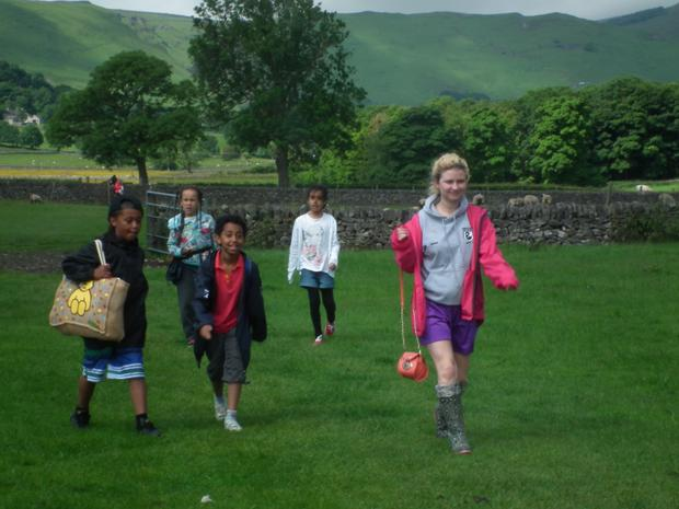 Country walks on the Year 4 residential