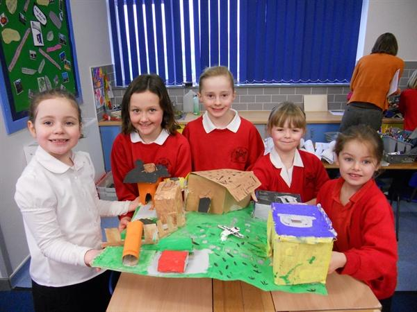 We had a great time making our model villages!